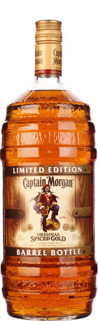 Captain Morgan Spiced Gold Barrel Bottle 150cl