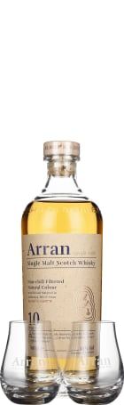 Arran 10 years Giftset 70cl