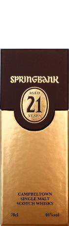 Springbank 21 years Single Malt 2012 70cl