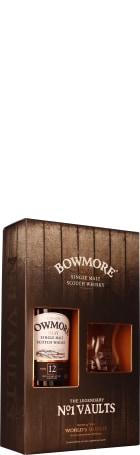 Bowmore 12 years Single Malt Giftset 70cl