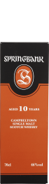 Springbank 10 years Single Malt New Edition 70cl