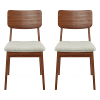 Mokuzai [木] Set of 2 Dining Chairs
