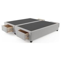 King Size Upholstered Bed Frame Base with Drawers