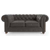 Camden Chesterfield Leather 2 Seater Sofa