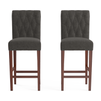 Espen® Leather Bar Stool Set of 2