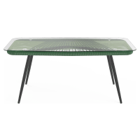 Alicante Glass Top Outdoor Coffee Table