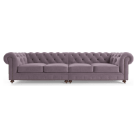 Notting Hill Velvet Chesterfield 4.5 Seater Modular Sofa