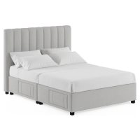Megan Queen Size Upholstered Bed Frame with Drawers