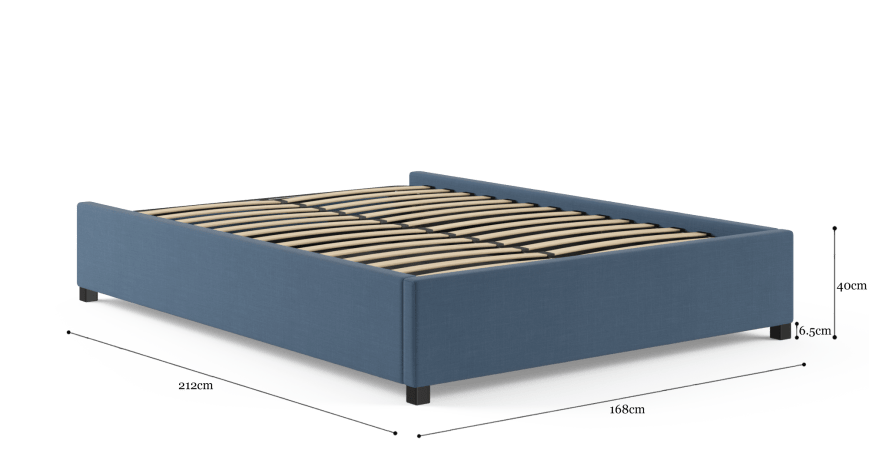 Queen Size Upholstered Gaslift Bed Base