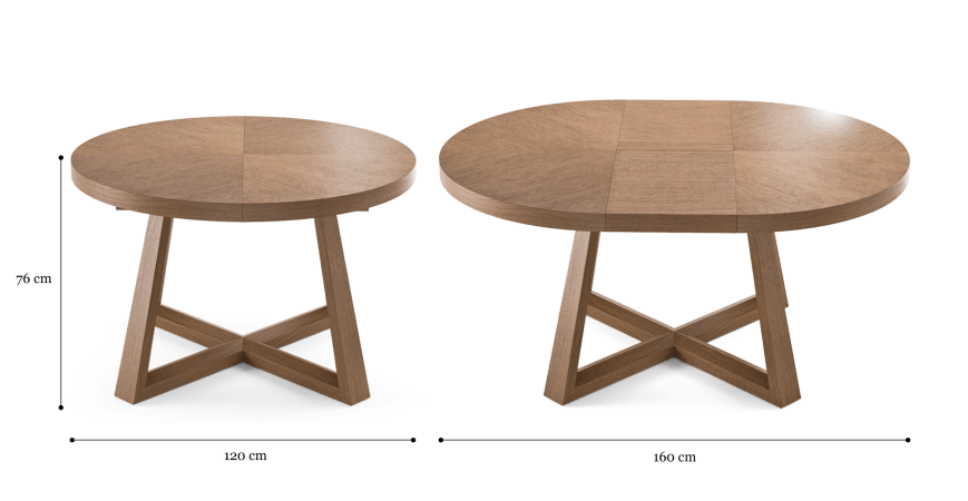 Parc Extendable Dining Table 120/160cm