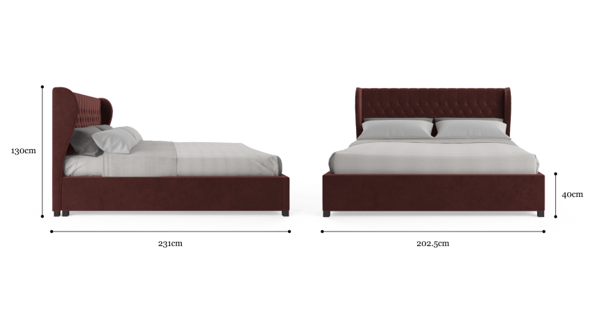 Buy Anica Gas Lift King Size Bed Frame Online in Australia | BROSA