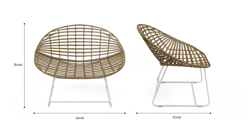 Riviera Outdoor 2x Dining Chair
