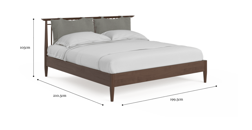 Ethan King Size Wooden Bed Frame with Cushion
