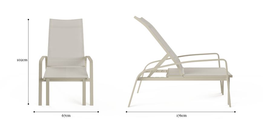 Solana Outdoor Folding Sun Lounger