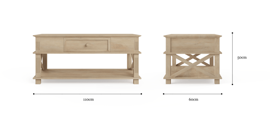 Sorrento Coffee Table with Drawer