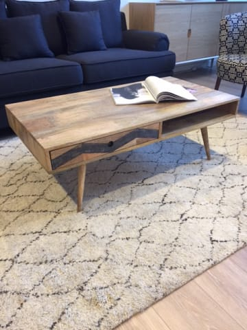 Potter coffee table natural mango wood 01