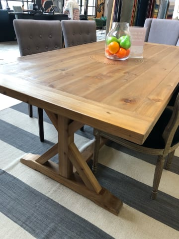 Chablis trestle dining table 200 x 100 03