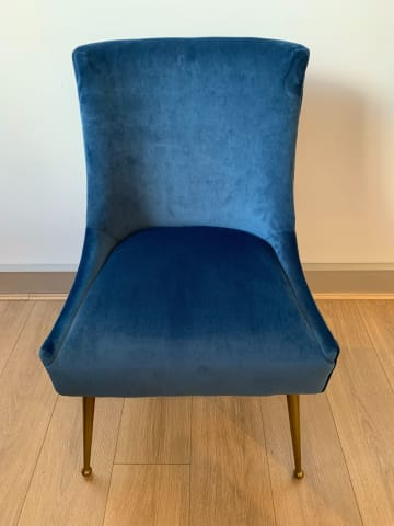 Frank dining chair ocean blue 02