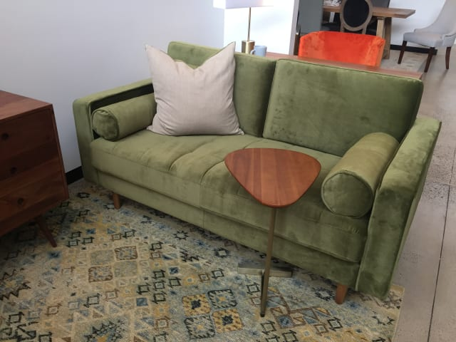 Frank 2 seater sofa olive green 01