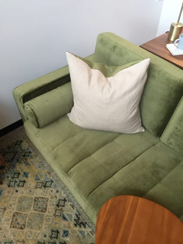 Frank 2 seater sofa olive green 04