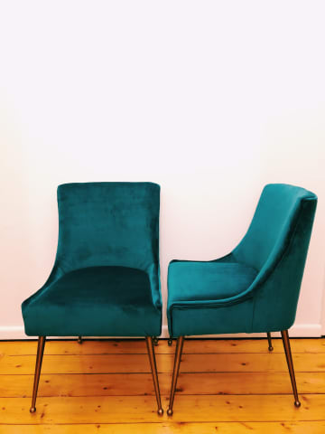 Frank dining chair peacock teal 01