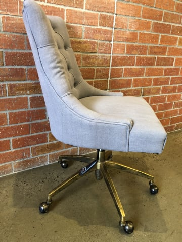 Espen office chair stone grey w brass 03