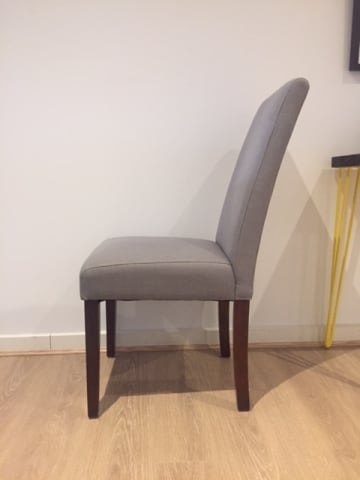 Grace dining chair stone grey w dark brown solid beech 03