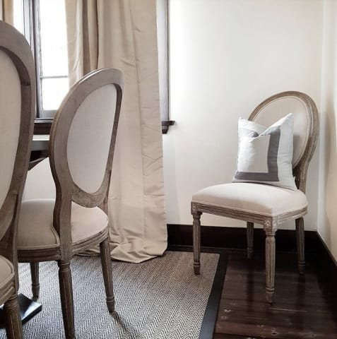 Louis dining chair french beige