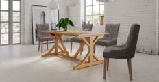 Dining Set Chablis Trestle Table 4x Espen® Scoop Chairs