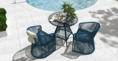Costa 5 Piece Outdoor Setting 4x Dining Chair with Dining Table