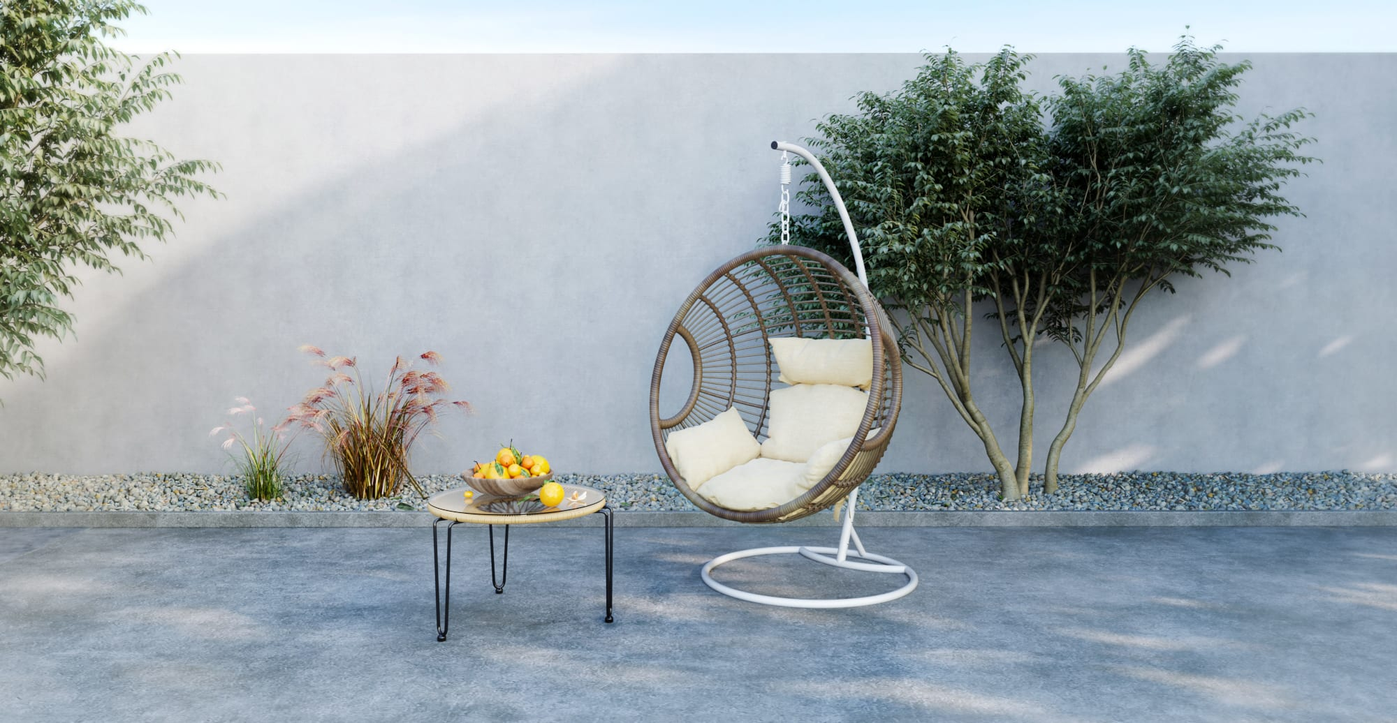 Riviera Outdoor Hanging Chair Riviera Outdoor Hanging Chair, White Change $749.00 ADD TO CART Riviera Outdoor Hanging Chair
