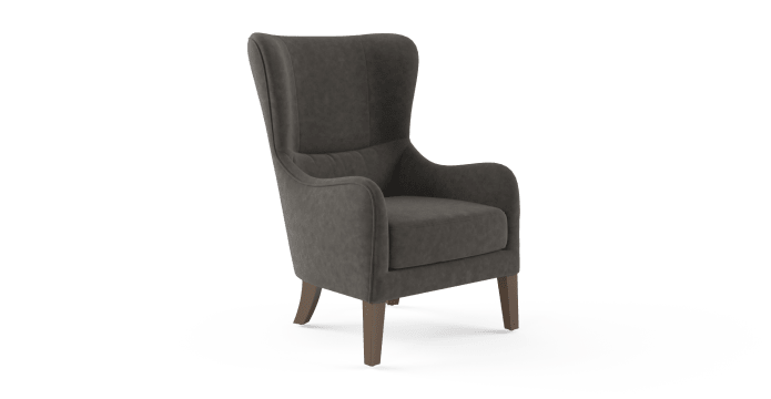 Windsor Leather Wingback Chair