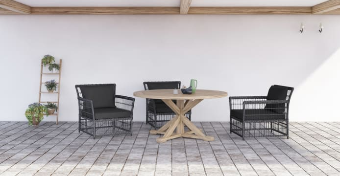 Chablis Round Outdoor Dining Table