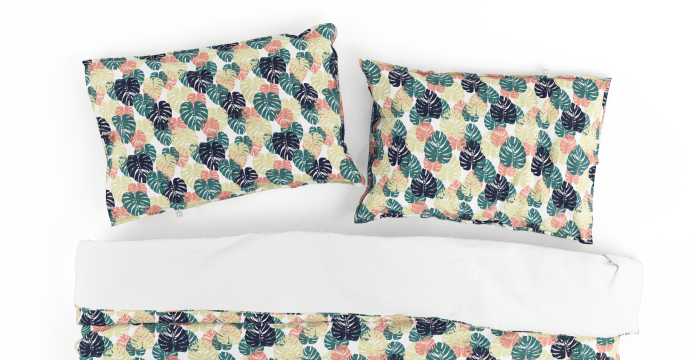 Overlapping Leaves Duvet Cover Set