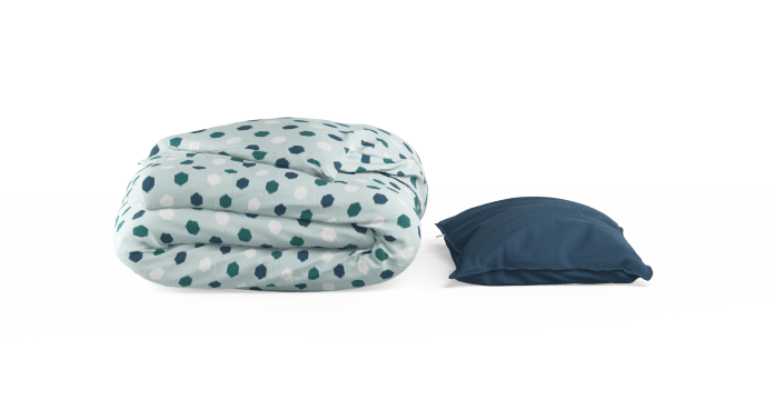 Printed Ikat Duvet Cover Set