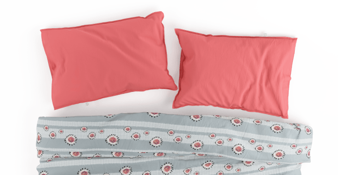 Crosshatch Flower Duvet Cover Set