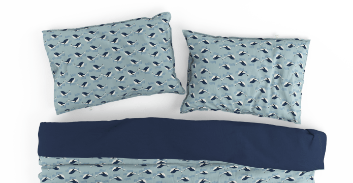 Whale Kids Duvet Cover Set