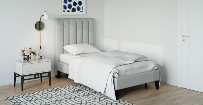 Single Size Upholstered Slimline Bed Base