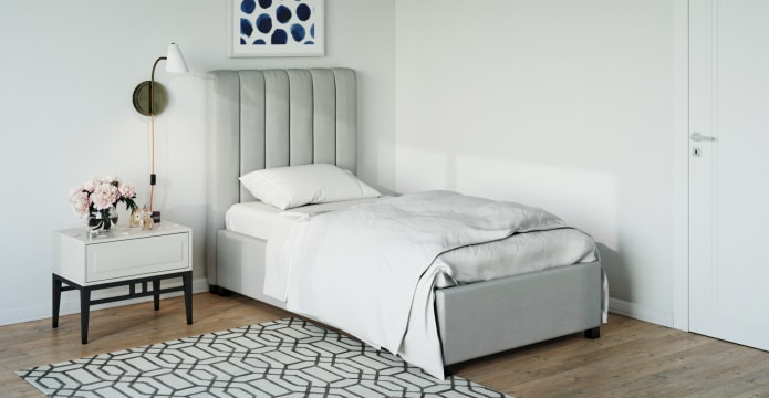Single Size Upholstered Gaslift Bed Base