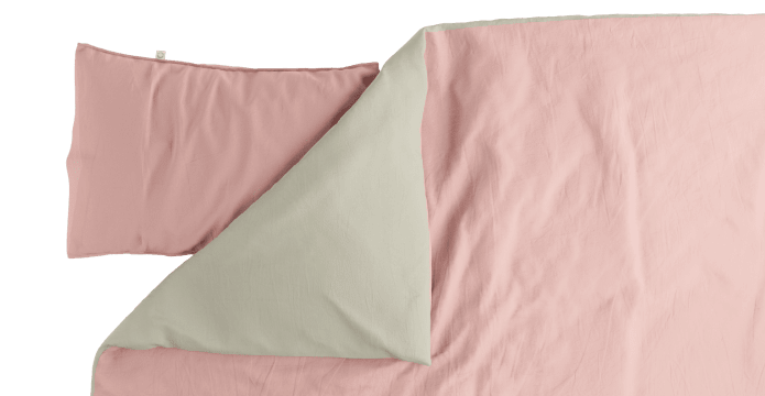 Pima Cotton Mellow Rose Duvet Cover Set