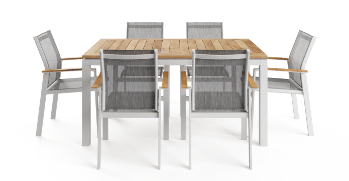 Malibu 6 Seater Teak Outdoor Dining Set