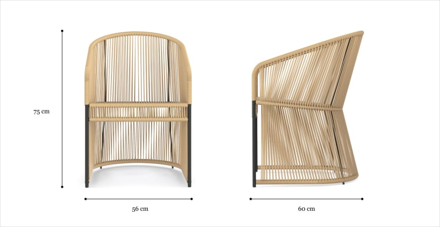 Costa Outdoor 2x Dining Chair
