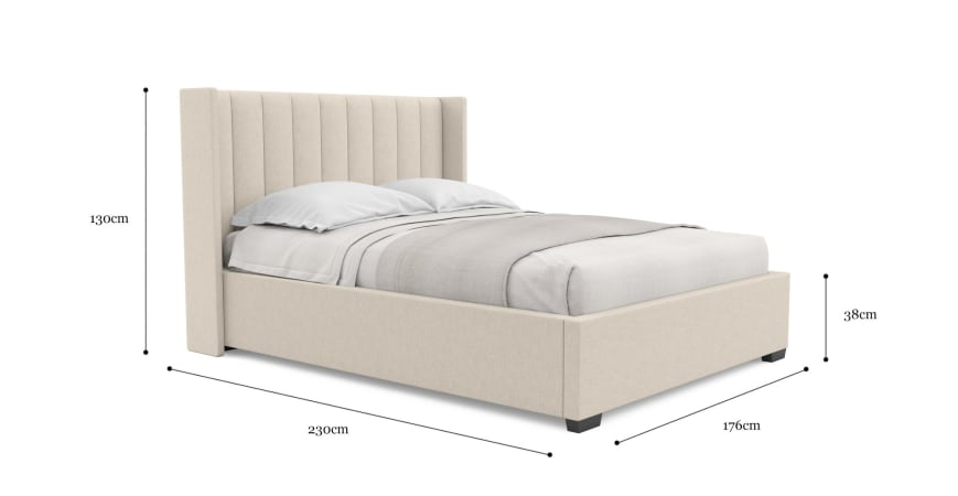 Isabella Gas Lift Queen Size Bed Frame