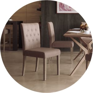 Espen leather dining chair