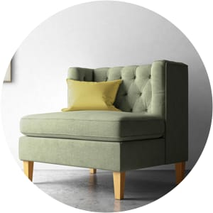 William tufted armchair