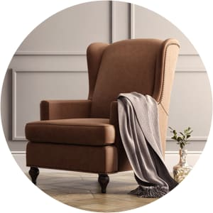 Charles leather armchair brown