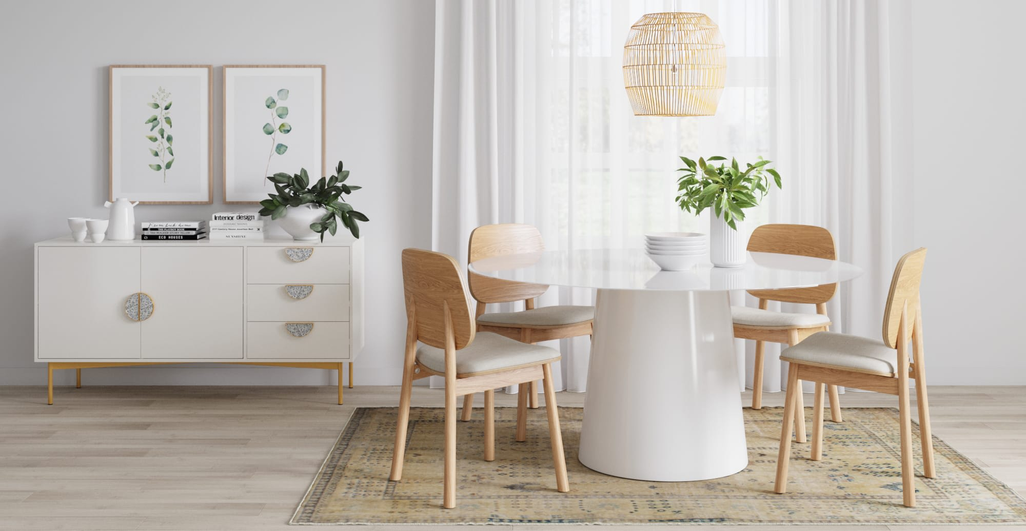 round dining table and dining set