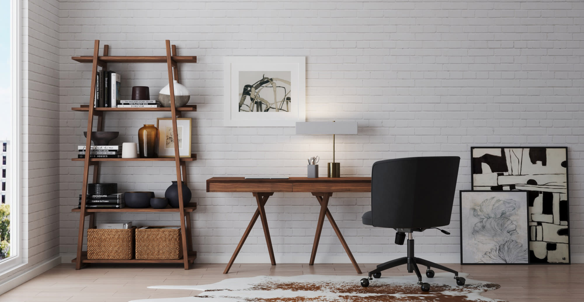 organize your desk with the Lewes Desk