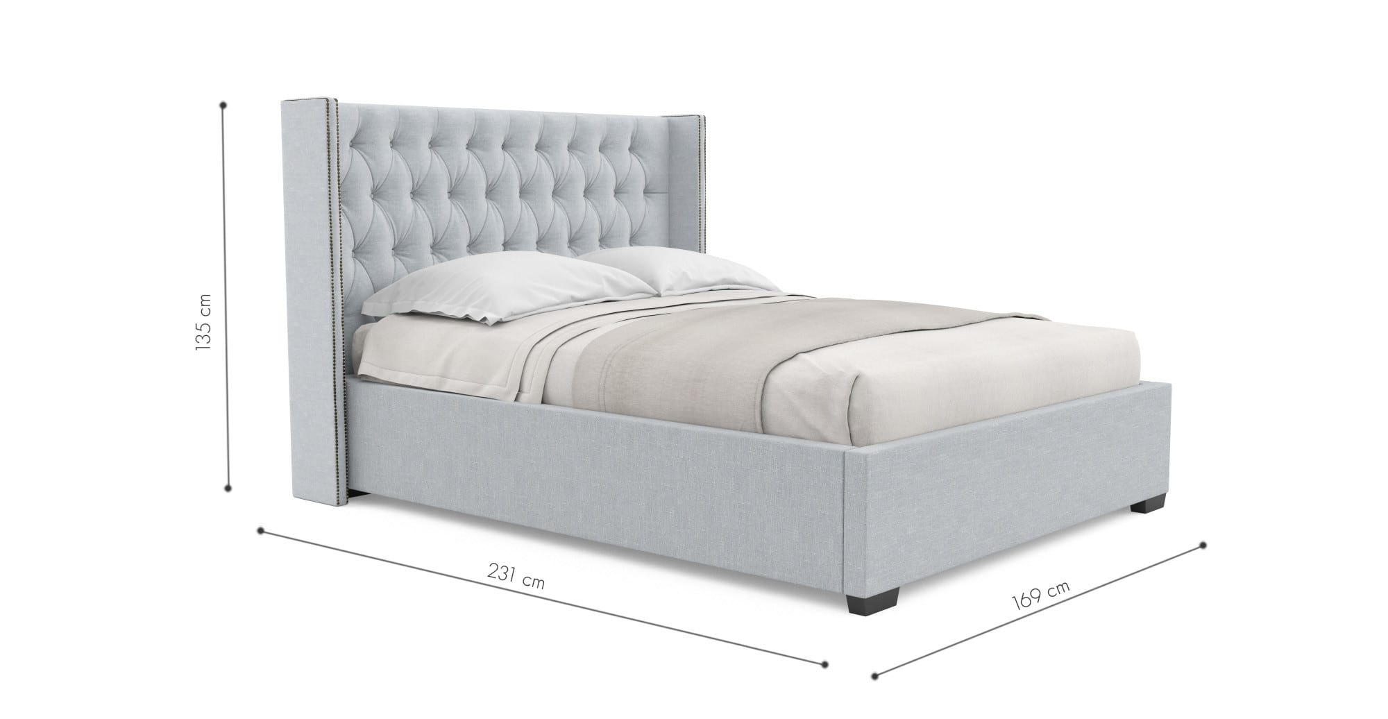 Buy Stella Gas Lift Queen Size Bed Frame Online in Australia | BROSA