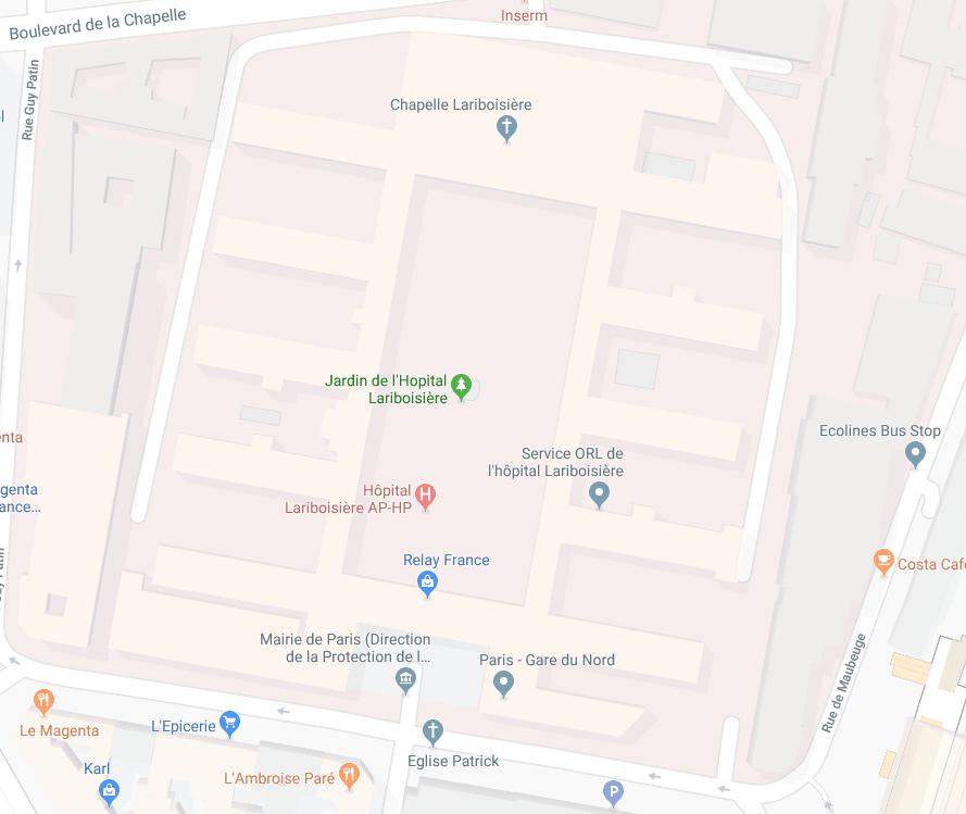 L'hôpital Lariboisière
